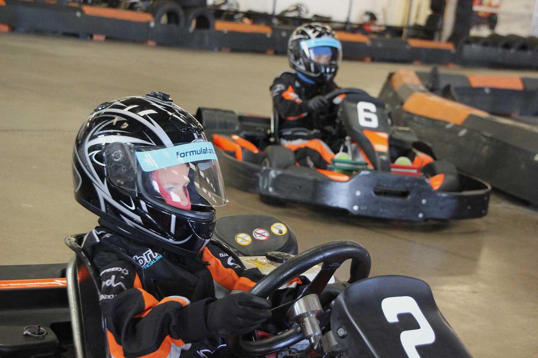 Cadet Karts On The Grid
